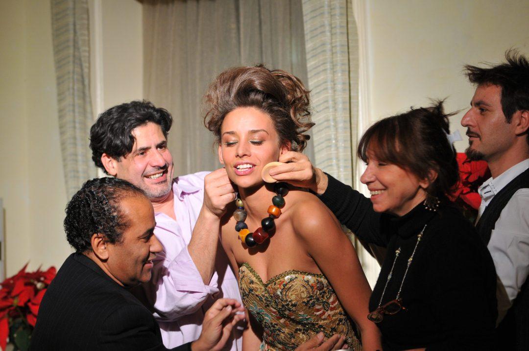 Federico works on Curly Hair