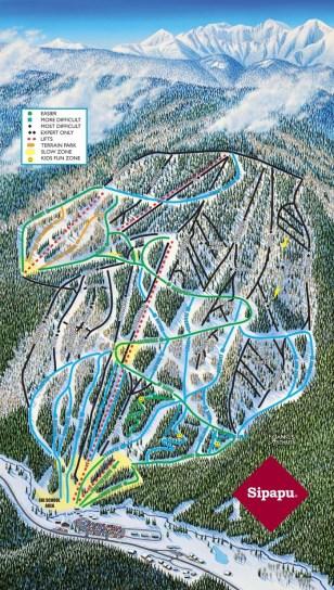 Trail Map of Sipapu NM Mountain