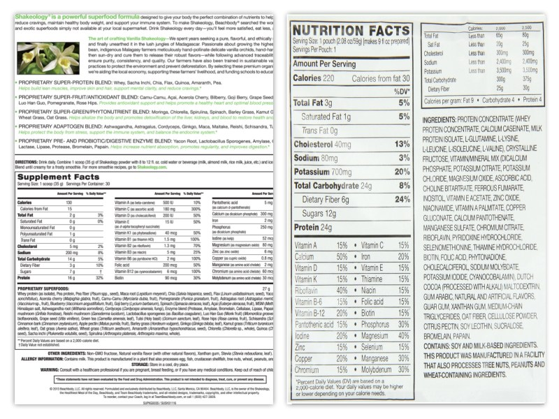 Here is a side by side comparison of the nutrients in Shakeology vs Advocare Trim MRS.