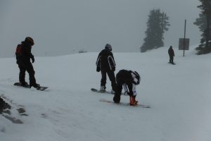 It was a very wet time on Mt. Baker for us. We still managed to have fun, but wish there was more of the mountain open.