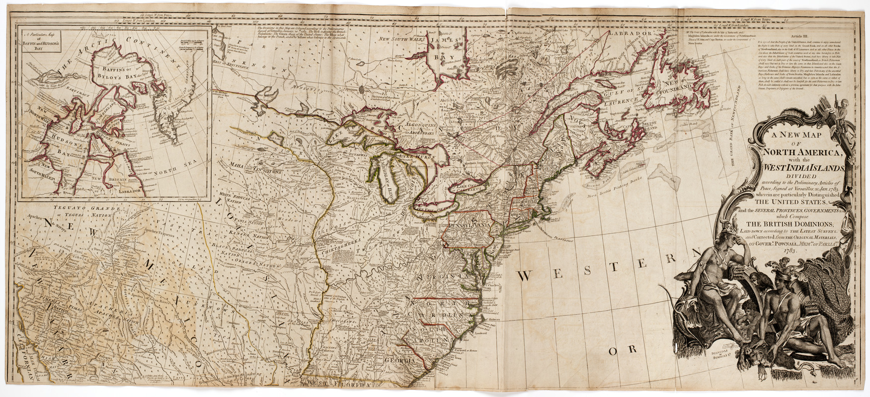A New map of North America   Norman B  Leventhal Map   Education Center A New map of North America