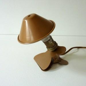 Lampe pince bronze