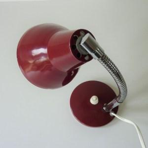 lampe de chevet bordeaux vintage