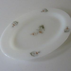 plat service ovale arcopal marguerites