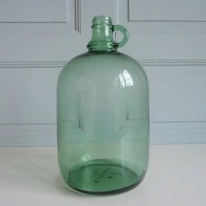 Bonbonne à anse verte