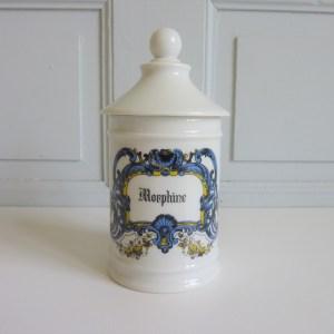 Pot d'apothicaire morphine porcelaine Avignon France