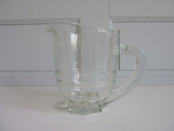 Carafe à eau limonade en verre ancienne