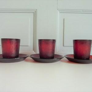 Verres timbales tasses et sous verres Sierra rouge Arcopal