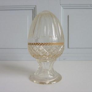 boule d'escalier ancienne en cristal