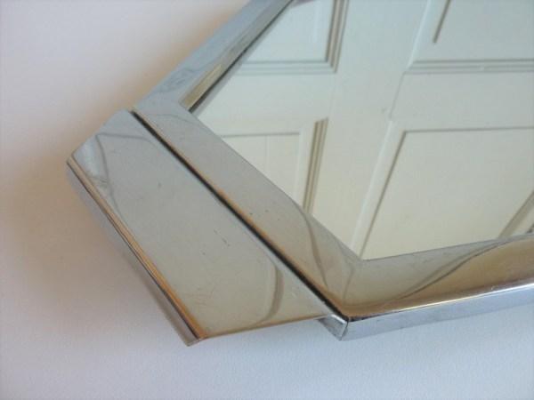 Plateau miroir métal chromé