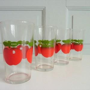 4 verres pommes Henkel