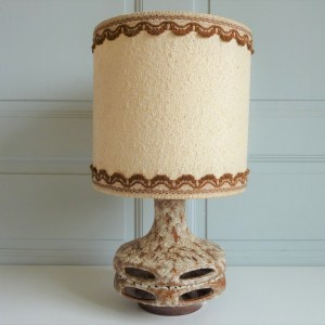 Lampe à poser Céramique grès Stein-Keramik W-Germany