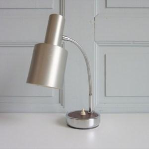 Lampe à poser de bureau Abat-jour métal brossé mat