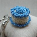 Crochet Cake Key chain