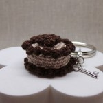 Crochet Keychain Brown Beige