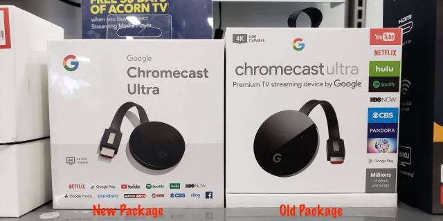 Chromecast Ultra New Package