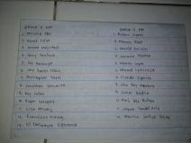 Group 3-4 LISTS