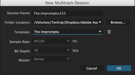 Multi-track session info
