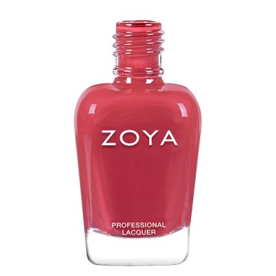 A polish named Briar by Zoya, described as a red-toned terracotta cream.