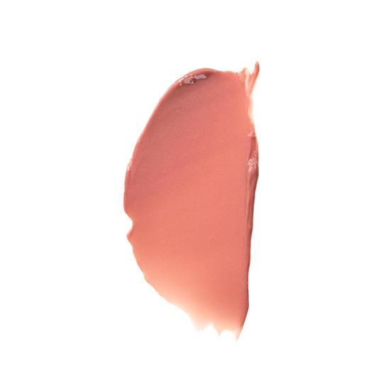 A lip gloss smear of ZOYA Hot Lips in Flirt.
