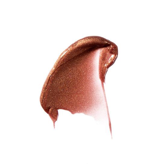 A lip gloss smear of ZOYA Hot Lips in Charmed.