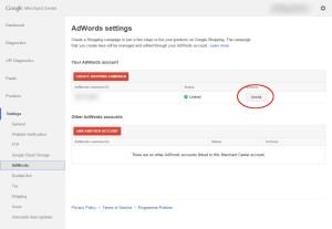 Link Google Merchant Account to Google Adwords