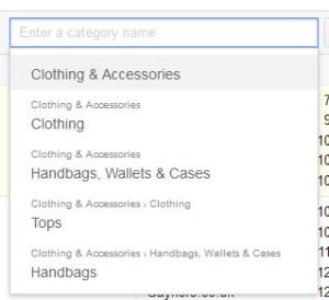 Google Merchant Assortment Categories