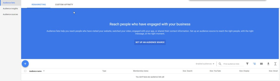 Google Ads Setup Audience List