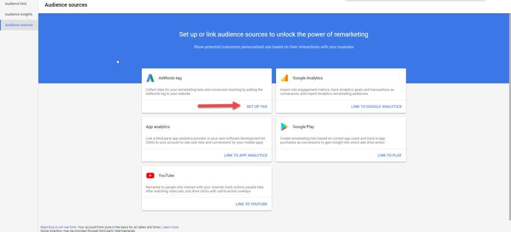 Google Ads Setup Tag