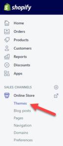 Shopify Theme Editing