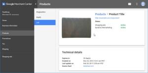 Google Merchant Product Technical Details