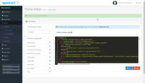 OpenCart 3 Theme Editor Example