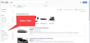 Google Shopping Seller Filter