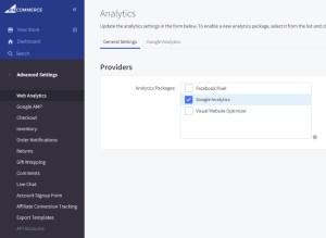 BigCommerce Enable Google Analytics