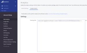 BigCommerce Google Analytics Tracking Code
