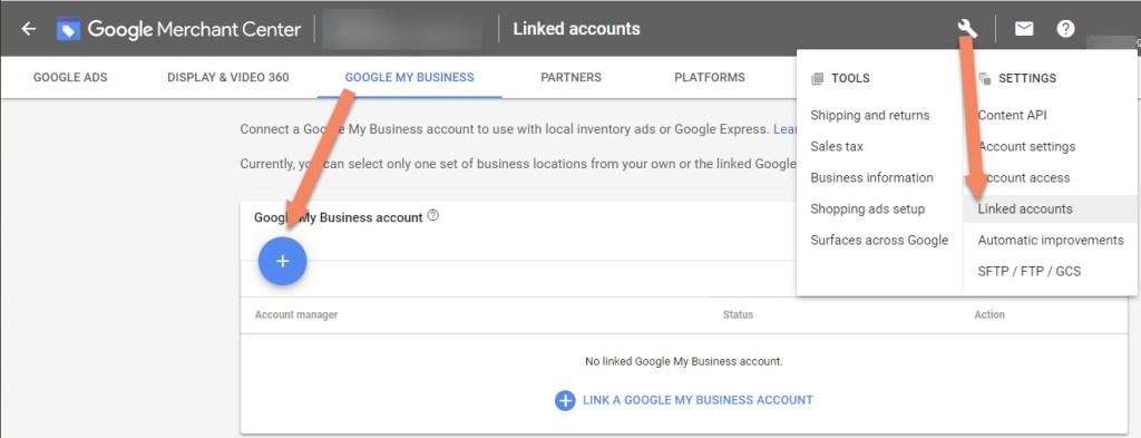 Google Merchant Center Google My Business