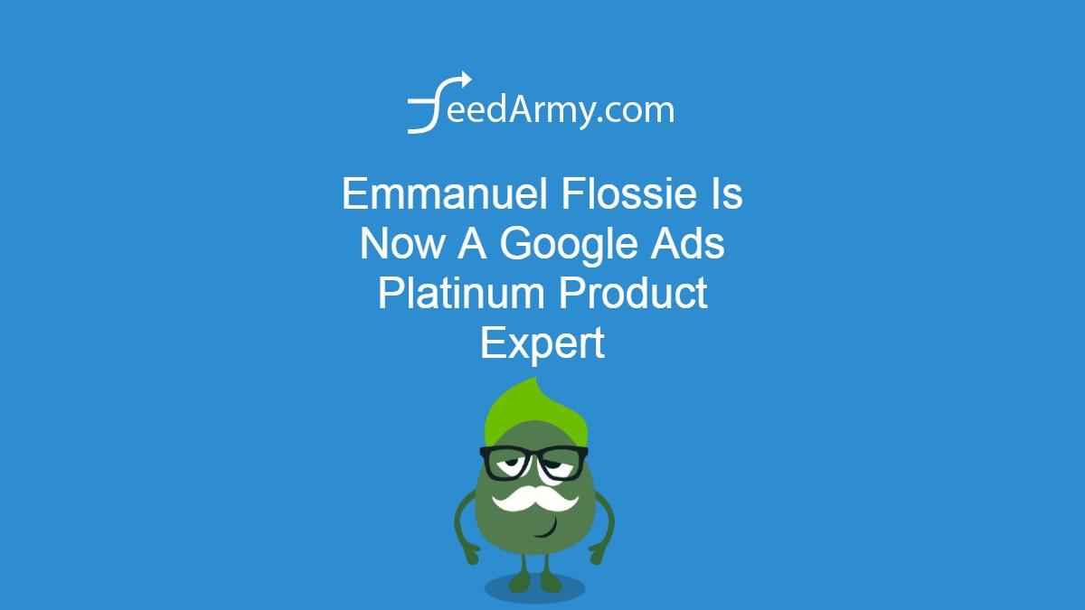 Emmanuel Flossie Is Now A Google Ads Platinum Product Expert
