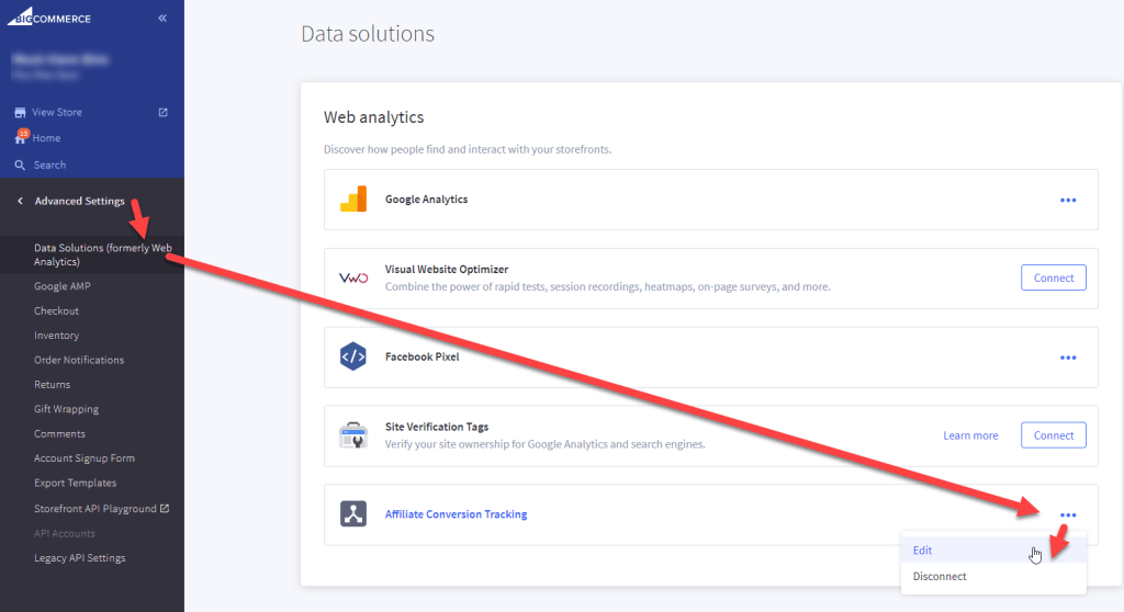 BigCommerce Data Solutions Affiliate Conversion Tracking