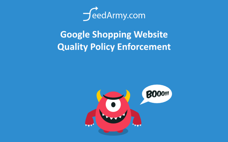 Google Shopping Website Quality Policy Enforcement