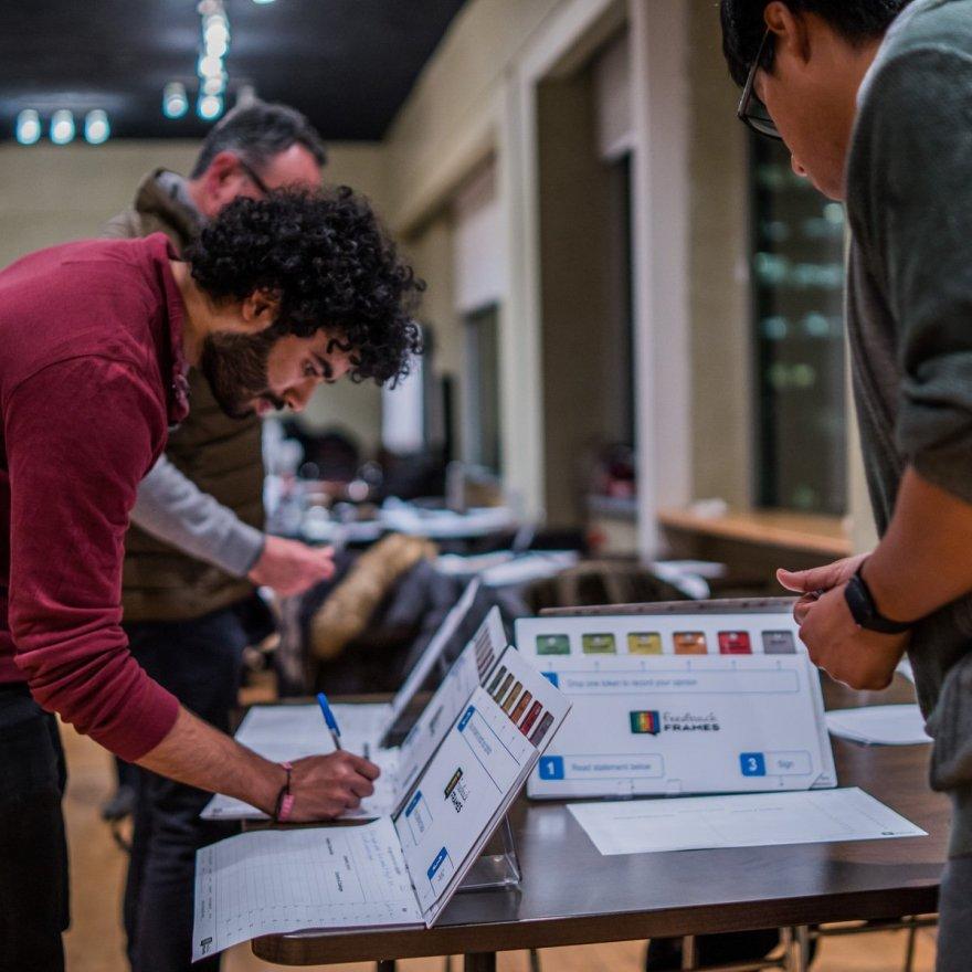 live voting using Feedback Frames