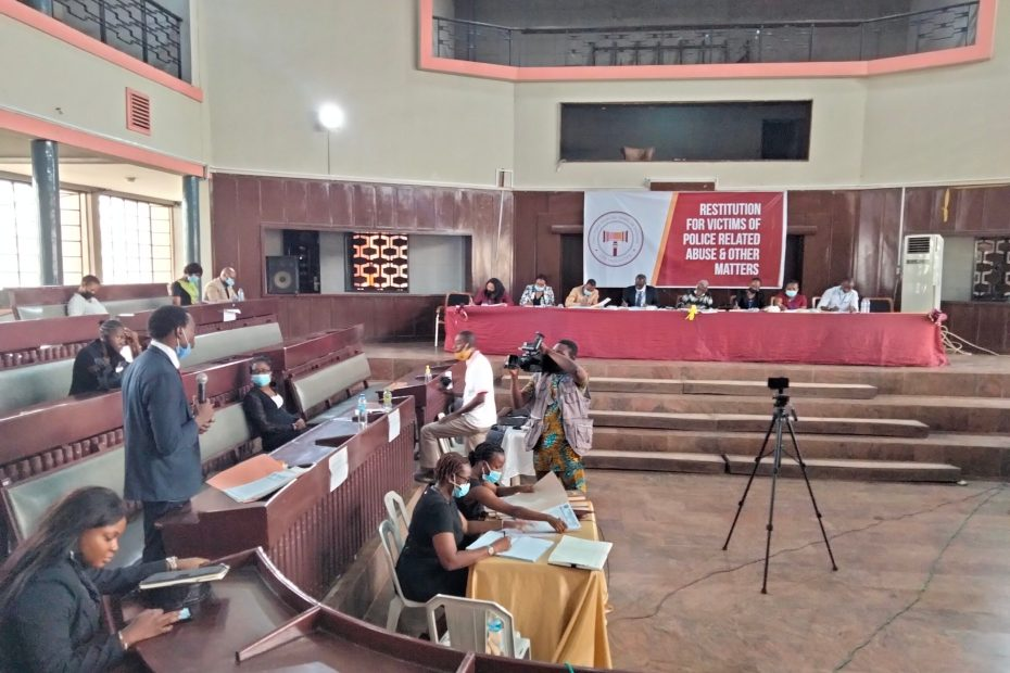 Picture of the Oyo State Judicial Panel of Inquiry hearing on March 11, 2021