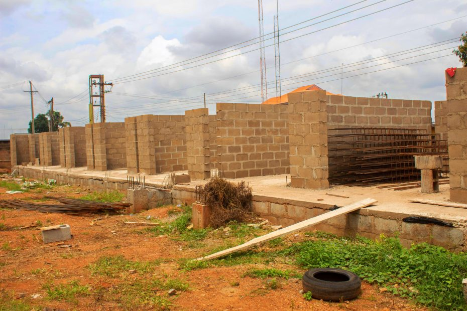 Picture of the ongoing ICT Hub at Mokola, Ibadan construction taken on June 22, 2021
