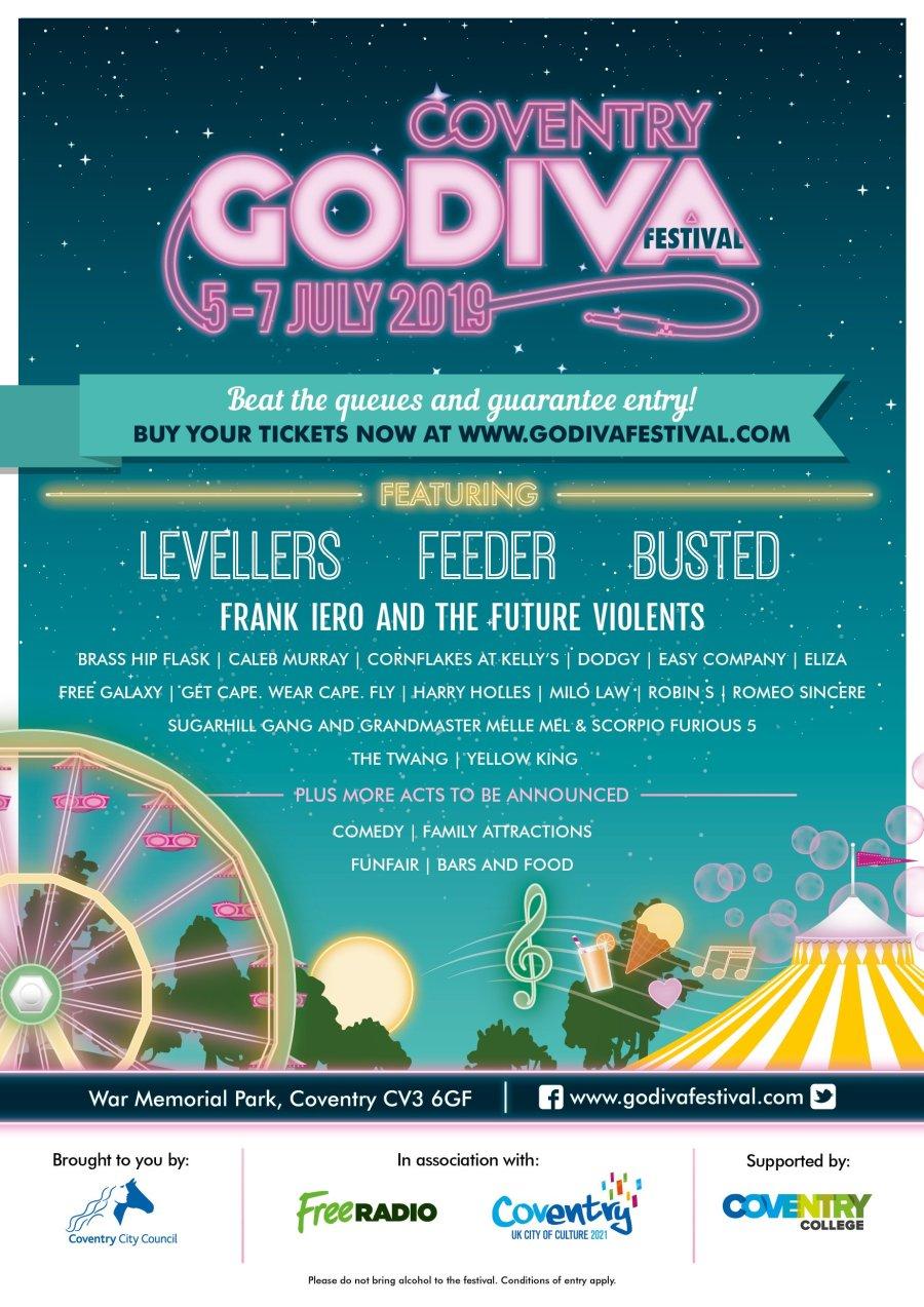Godiva Festival 2019 lineup