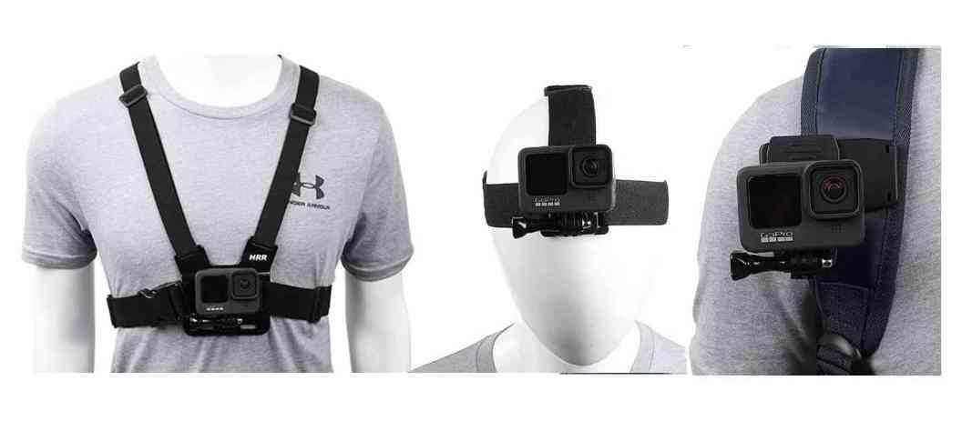 Action Camera Body Head Mount