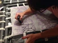 Taller de pintura en seda realizado por Berit Hals
