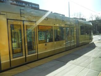 Passing streetcar