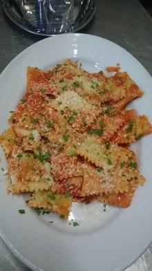Ravioli with tomato and chilli
