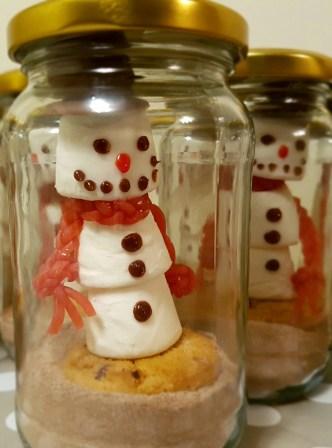 Snowmen in jars