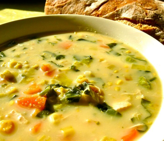 Healthy and Creamy Chicken and Vegetable Soup