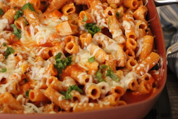 One Pot Chicken Pasta Parmesan is an easy and filling meal perfect for every night of the week!